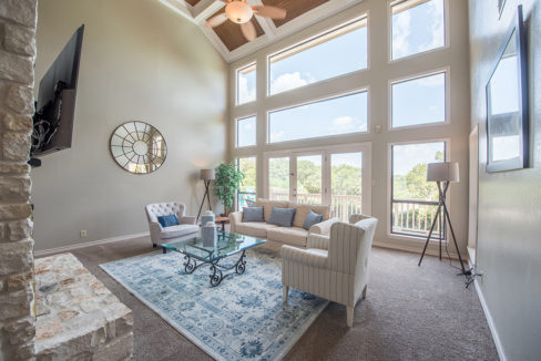 1. Spectacular Two Story Living Room with Hill Country Views